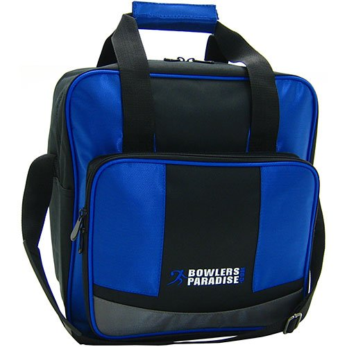 BowlersParadise.com Single Tote Blue/Black/Silver Bowling Bag