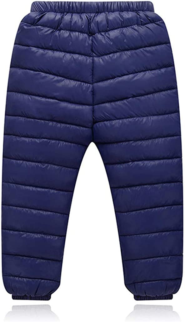 Height 47-51 BAOPTEIL Toddler Boys Girls Winter Outdoor Active Down Pants Warm Thick Down Trousers Windproof Snow Pants 2-6Y Navy Blue, 5-6Years