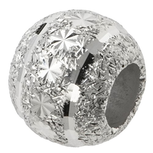 Rhodium On 925 Sterling Silver Snowflake Disco Stardust Bead For European Charm Bracelets