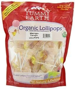 YumEarth Organic Mango Tango Lollipops, 12.3 Ounce Bag (Pack of 4)