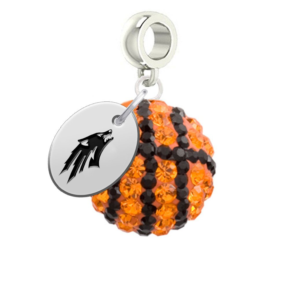 f4eeca088 Amazon.com: Nevada Wolfpack Basketball Drop Charm Fits All European Style  Charm Bracelets: Jewelry