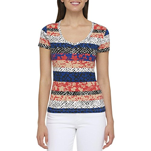 s Printed V-Neck Casual Top Multi M ()