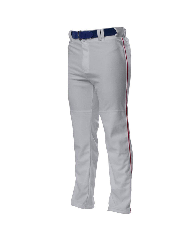 A4 野球用 バギーパンツ メンズ プロ仕様 パイピング入り B00BPXQ6T0 3L Grey/ Cardinal Grey/ Cardinal 3L