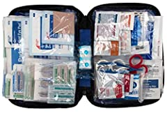The First Aid Only 299 Piece All-Purpose First Aid Kit will have you prepared for any potential emergency at home, in the office or on the go. The essential first aid supplies are ideal to treat pain and swelling, as well as cuts, scrapes, an...