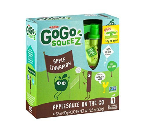 Go Go Squeez Apple/Cinnamon, All Natural Applesauce On The Go - (16 Pouches) from Materne