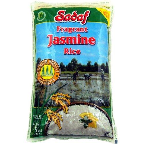 Sadaf Jasmine Rice AAA (Aged), 5-Pounds (Pack of 2) by Sadaf