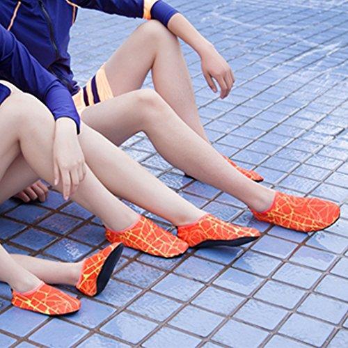 SITAILE Water Shoes, Mens Frauen Quick Dry Wasser Schwimmen Schuhe Aqua Socken für Beach Swim Surfen Yoga Übung Orange