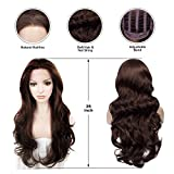 IMSTYLE Lace Front Wigs Natural Brown Wigs For