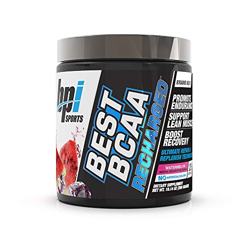 BPI Sports Best Bcaa Recharged - Endurance, Muscle, Recovery - Leucine, Isoleucine, Valine - Green Tea - Taurine - Coconut Water - Electrolytes - for Men & Women - Watermelon- 25 Servings - 10.14 Oz