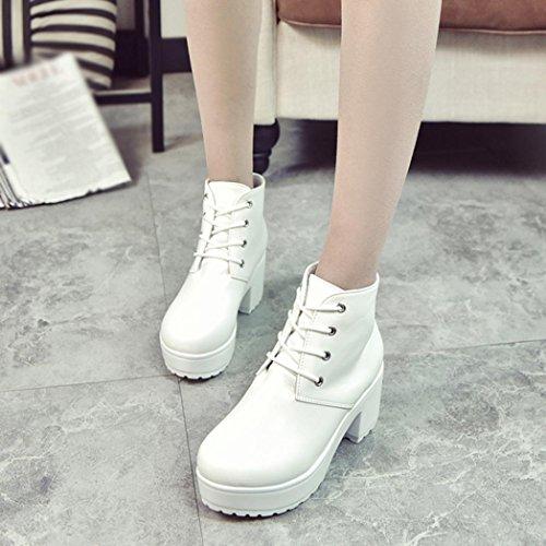 Mujer de Zapatos Zapatillas Oxford Botines Cortas Moda Casuales Cuero Planos para Botas Mujer de B Zapatos 485WP8
