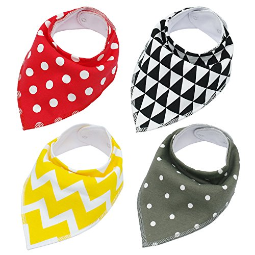 MZjJPN 4pcs Adjustable Puppy Cat Bandana Collars Pet Scarf Neckerchief Collar Grooming Accessories for Small Medium Large Dog Chihuahua,Red,Free Size -