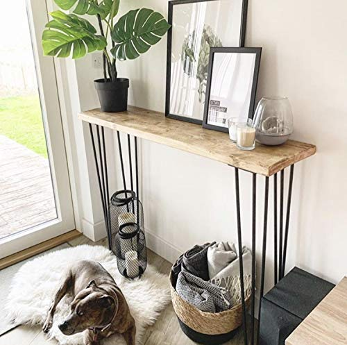 official photos 2ee3a 8e56b Rustic Console Table with Steel Hairpin Legs: Amazon.co.uk ...