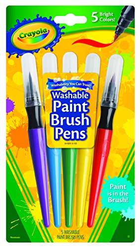 Darice BS54-6201Crayola - Paint Brush Pens - 5 (Crayola Pen)