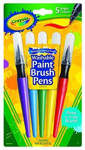Darice BS54-6201Crayola - Paint Brush Pens - 5 Count