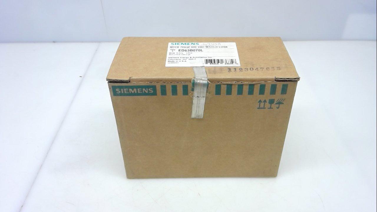 Siemens Ed63b070l, Circuit Breaker, 70A, 600V, 3 Pole Ed63b070l Ar
