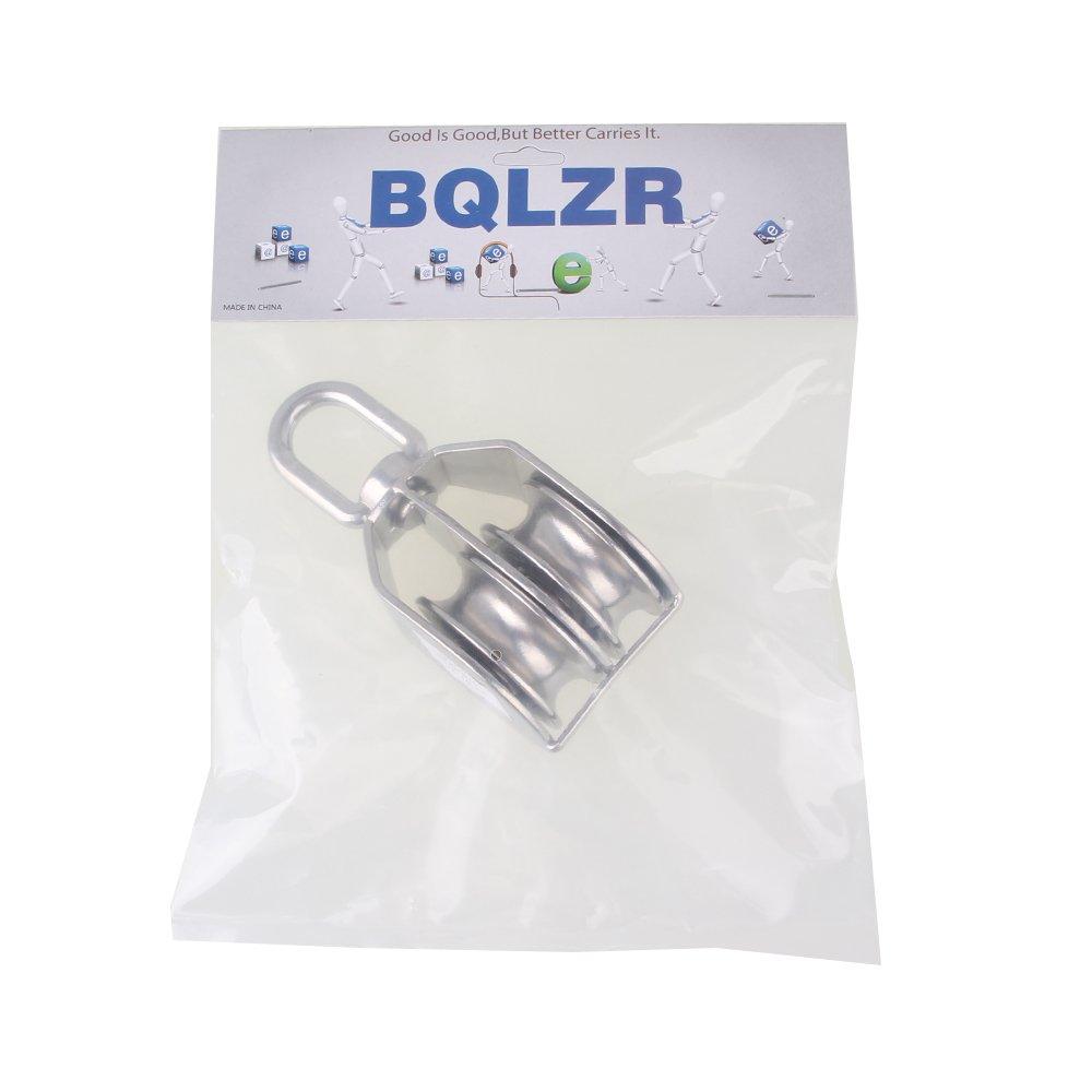 BQLZR in acciaio INOX 304 puleggia doppia girevole blocco fisso puleggia sollevamento M50 50 mm
