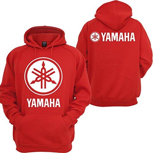 Yamaha Fits Street Bike - Yamaha Racing Hoodie Motocross YZF R1 R6 YFZ Motorcycles Honda Yamaha Sweatshirt Red