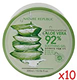 Nature Republic Skin Soothing Moisture Aloe Vera 92% Natural Gel Value Pack of 10