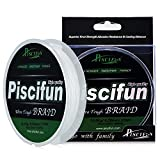Piscifun PE Braided Fishing Line 300Yd White 100lb Test