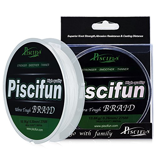 Piscifun Braided Fishing Line Superline Abrasion Resistant Braided Lines Super Strong PE Fishing Lines
