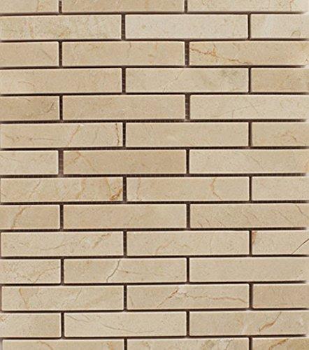 Crema Wall (Crema Marfil Subway Pattern Stone Tile Mosaics for Bathroom and Kitchen Walls Kitchen Backsplashes)
