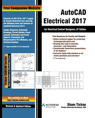 autocad electrical 2017 for electrical control designers prof sham rh amazon com autocad electrical manual pdf español autocad electrical manual 2016