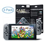 [3 Pack] Nintendo Switch Screen Protector Tablet Clear HD Shield Anti-Bubble Film By Mibote