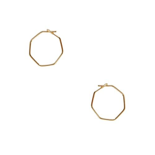 2417c5aff Humble Chic Octagon Hoop Earrings for Women - Hypoallergenic Lightweight  Tiny Wire Small Huggie Threaders,