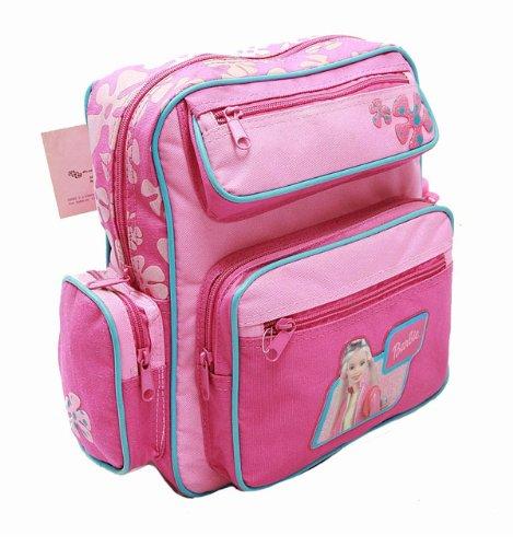 """Zaino da bambini, piccolo, motivo """"Barbie"""", con bottiglia d'acqua, per la scuola 15375-2, colore: rosa"""