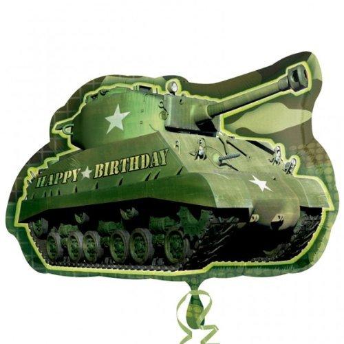 Anagram International Army Tank Birthday Shape Pack, 26''