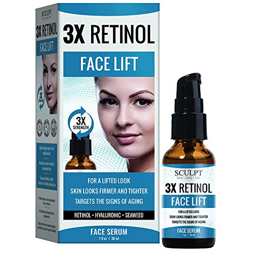SCULPT 3X Retinol Face Lift Serum 1oz / 30ml (Retinol Serum 3x)