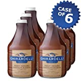 Ghirardelli Sweet Ground Chocolate and Cocoa Sauce - 64oz Bottle (Case of 6) by Ghirardelli