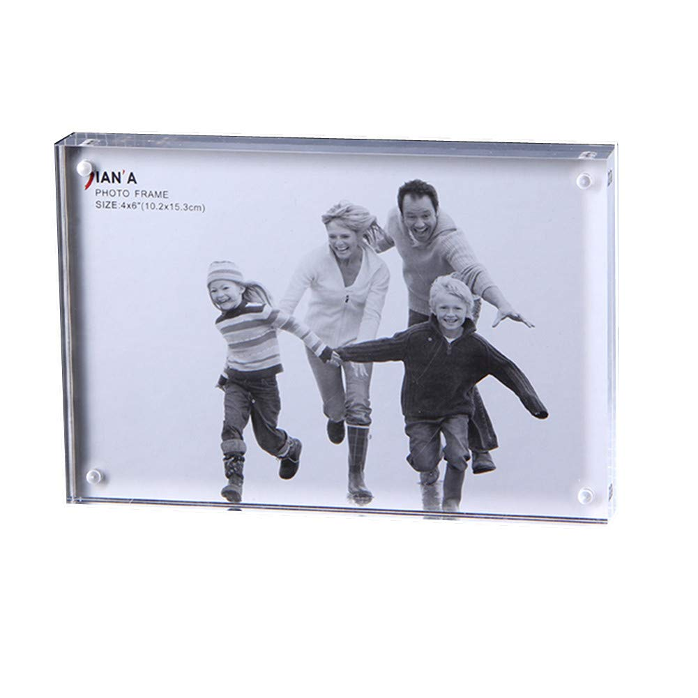 Encounter G Simple Transparent Photo Frame 5 Pieces Family Combination High-Grade Thick Double-Sided Acrylic Strong Magnet Plexiglass Magnetic Price Card