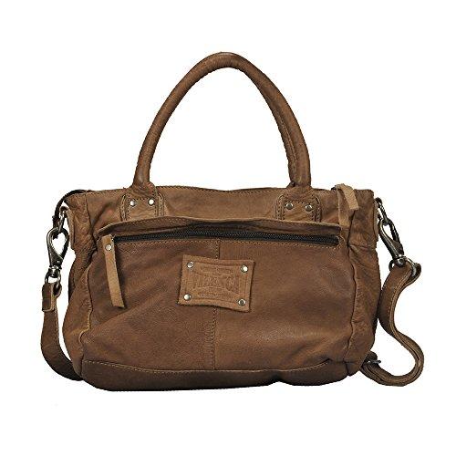 """Vilenca """"40695 Cognac"""" Signore borsa a tracolla, borsa di cuoio per le donne, Dimensioni- L31cmxH21cmxB9cm �?"""