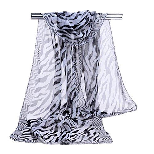 Tuscom Fashion Stripe Chiffon Scarf%EF%BC%8863%E2%80%B3%C3%9719 6%E2%80%B3%EF%BC%89