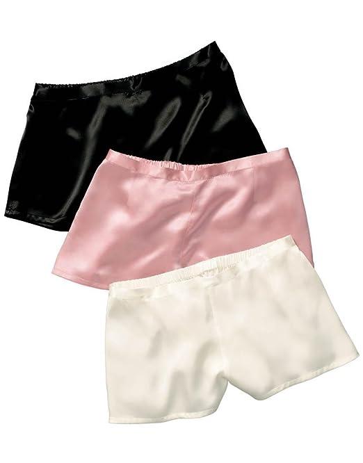 JASMINE SILK Mujer Seda Pur Boxer Pantalones Cortos Calzoncillos Rosa Rosa Extra-Small