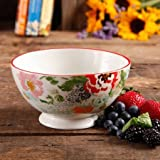 The Pioneer Woman Flea Market 6'' Decorated Footed Bowls, Country Garden, Set of 4