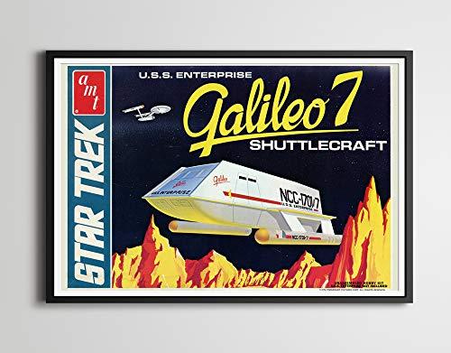1974 Star Trek Galileo 7 Shuttlecraft Model POSTER! (up to full-Size 24