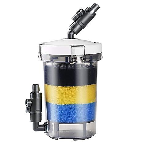 SUPEWOLD Filtro Externo para Acuario, Filtro para depósito de Peces de Alta eficiencia, Filtro