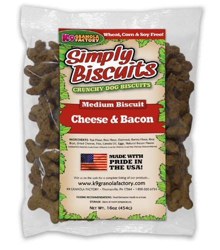 K9 Granola Factory Simply Biscuits with Cheese and Bacon, Me