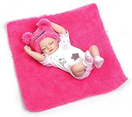 "10/"" MINI GIRL DOLL soft silicon vinyl doll Reborn baby doll"