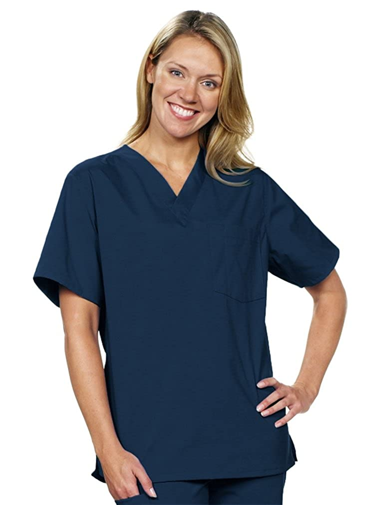 954f0b171b5 *❤❤*Runs LARGER than Women's Scrub Tops.*❤❤* Please refer to Equivalent  Sizes below. FADE-RESISTANT. WRINKLE-RESISTANT. PILL-RESISTANT.