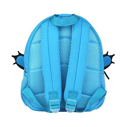 Kleinkind Kinder Rucksack 3D Niedlichen Tier Schultasche Cartoon Vorschule Kindergarten Tasche (Blau) Hellblau