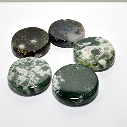 Moss Agate Stand for Stone Spheres Multicolor Rare Natural Polished Crystal Specimen Quartz Mineral Stone Stand - India - Color Agate Moss Multi