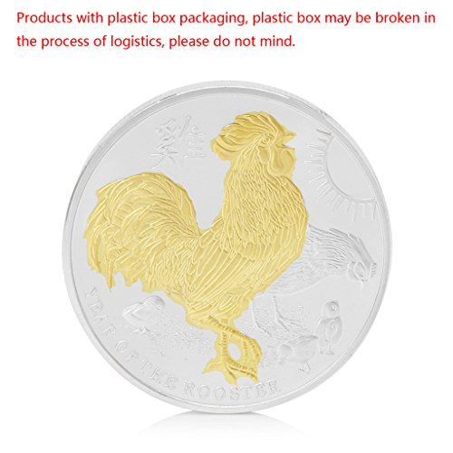 (2017 Year of The Rooster Elizabeth II 1oz Commemorative Coins Gold and Silver by HittecH)