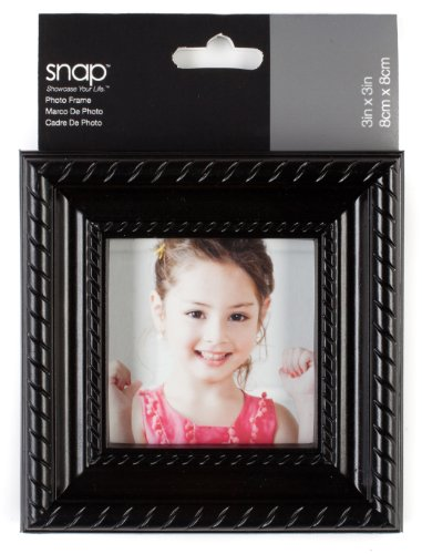 Snap Black Rope Embossed Tabletop Frame, 3 by 3-Inch