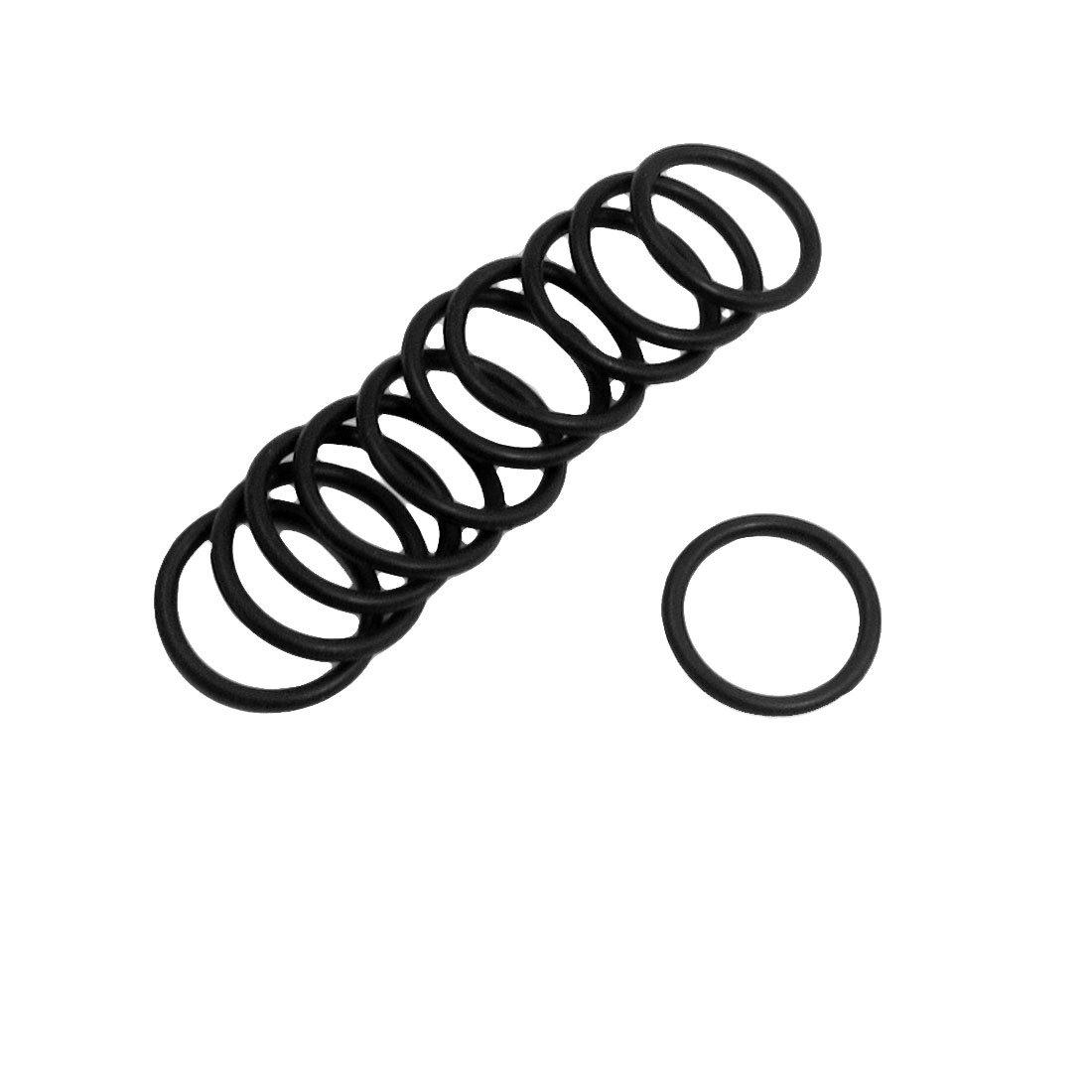 10/St/ück Schwarz 20/x/2/mm Kautschuk Sourcingmap Dichtungsring////O-Ring