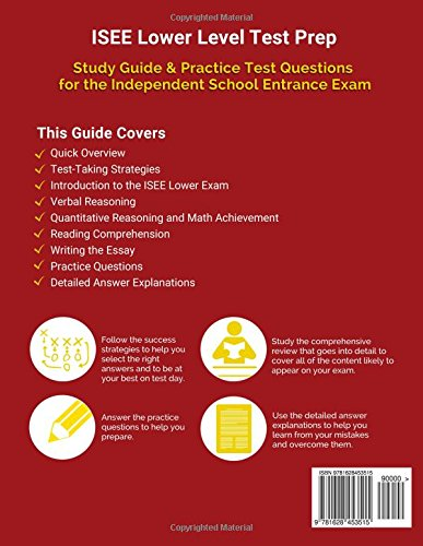 ISEE Lower Level Test Prep Study Guide Practice Questions And Book For The Independent School Entrance Exam Amazoncouk