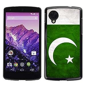 Caucho caso de Shell duro de la cubierta de accesorios de protección BY RAYDREAMMM - LG Google Nexus 5 D820 D821 - Pakistan Grunge Flag