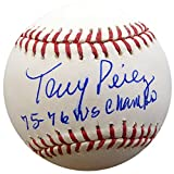 "Tony Perez Autographed Official MLB Baseball Cincinnati Reds""75-76 WS Champs"" PSA/DNA ITP #4A58321"
